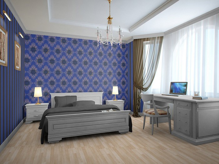 edem 827 24 tapete barock opulence streifen hell blau blau braun silber 70 cm original edem. Black Bedroom Furniture Sets. Home Design Ideas