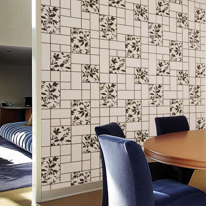 edem 146 20 moderne k che bad flur hobbyraum tapete kacheln floral grau wei original edem hell. Black Bedroom Furniture Sets. Home Design Ideas