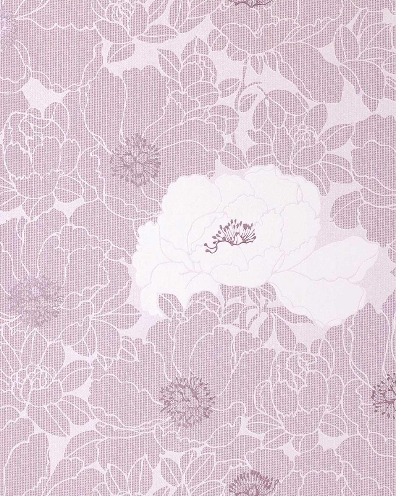 edem 025 24 designer blumen floral tapete lavendel pastell violett hell lila original edem. Black Bedroom Furniture Sets. Home Design Ideas