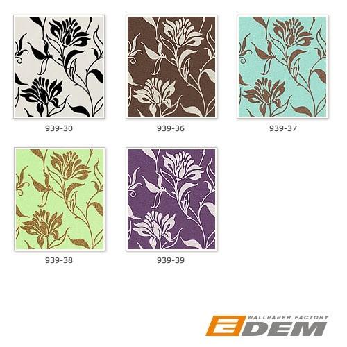 edem 939 30 designer vliestapete florales blumen muster. Black Bedroom Furniture Sets. Home Design Ideas
