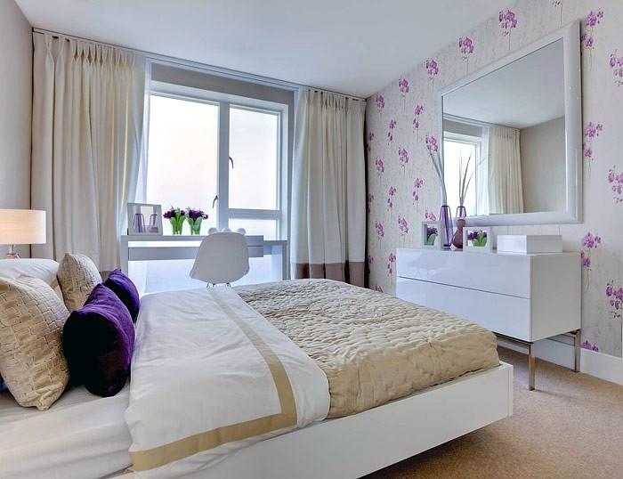 einrichtung schlafzimmer grau einrichtungsideen kleines - Schlafzimmer Lila Grau