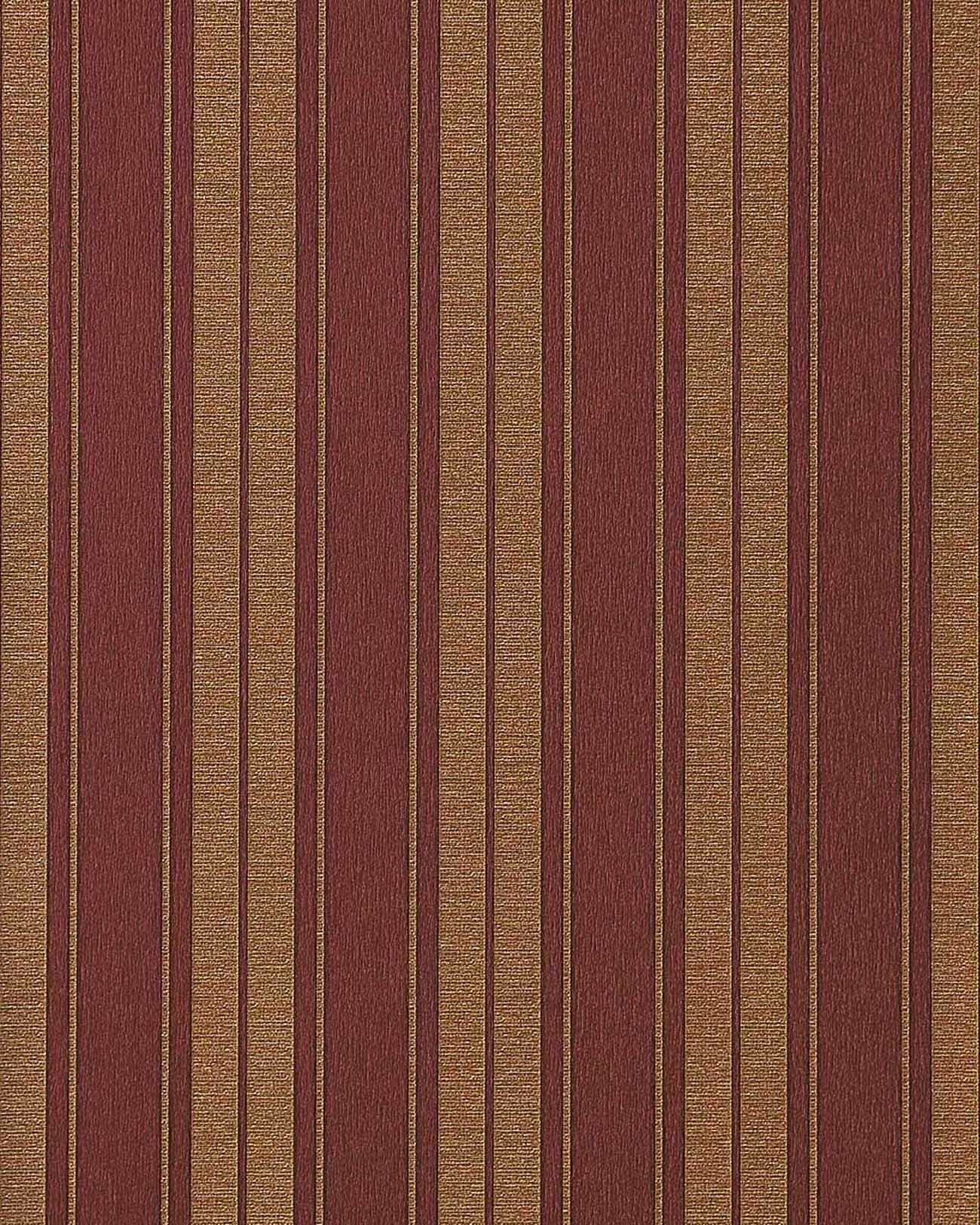 Hochwertige Tapeten Gold : Red and Gold Striped Wallpaper