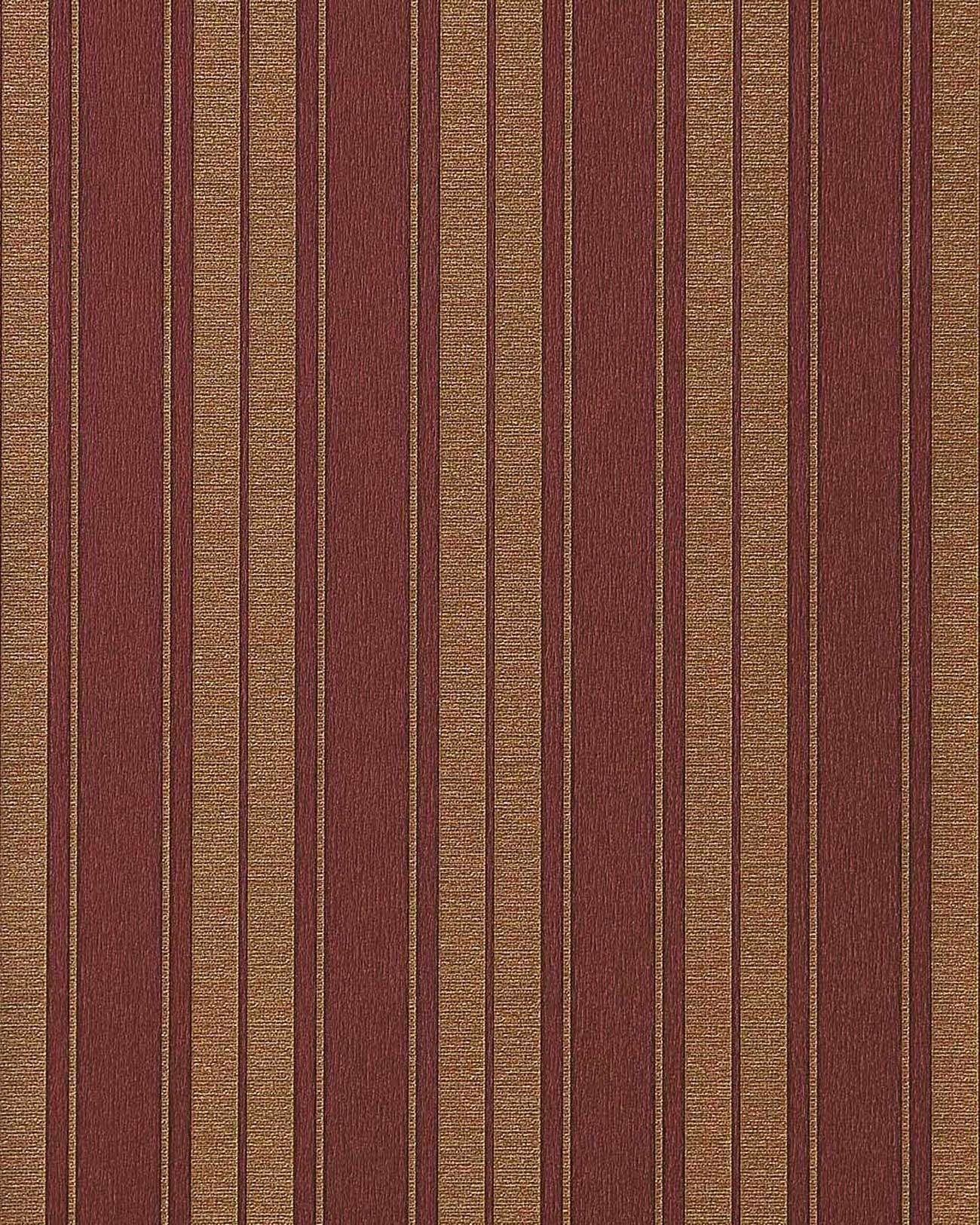 Hochwertige K?chen Tapeten : Red and Gold Striped Wallpaper