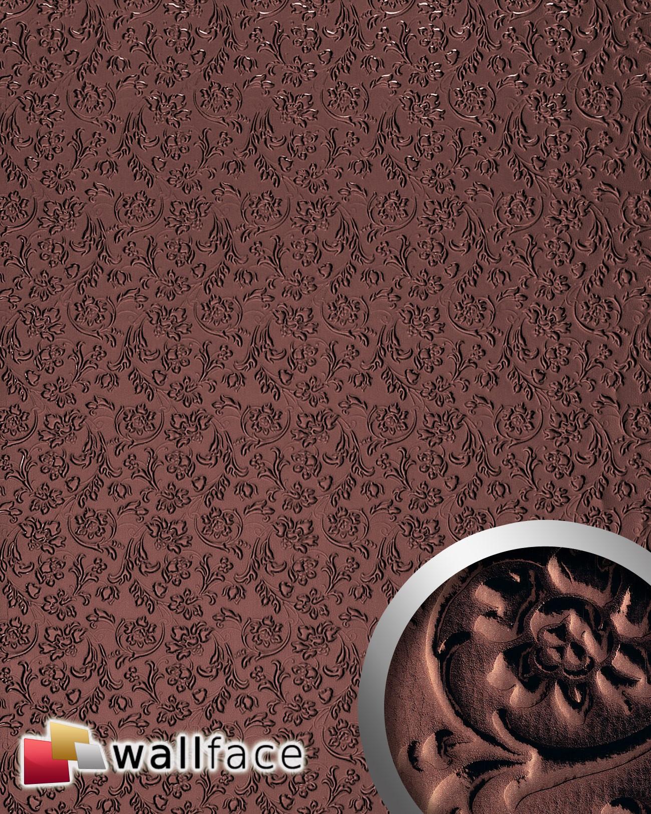 Selbstklebende Tapeten Barock : Dekor Barock Blumen selbstklebende Tapete Wandbelag braun 2,61 qm
