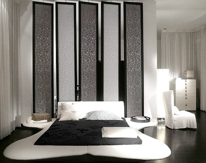 floral blumen wandpaneel wallface 13412 floral silber original wallface schwarz silber 3d. Black Bedroom Furniture Sets. Home Design Ideas