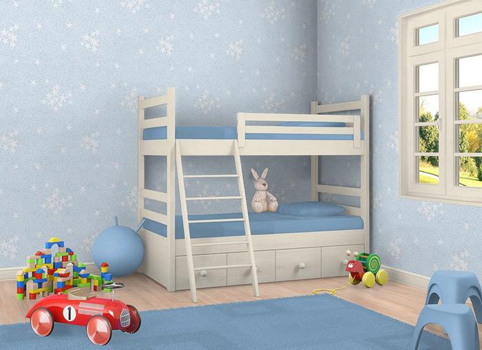 Leuchtende Kindertapeten : Sternentapete EDEM 533-32 Decken Wand Tapete Blau leuchtende Sterne