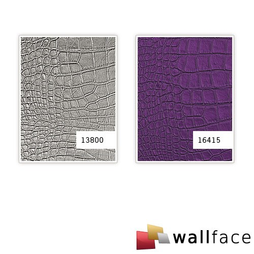 Wallface 16415 croco nova design 3d rev tement mural auto for Revetement mural simili cuir