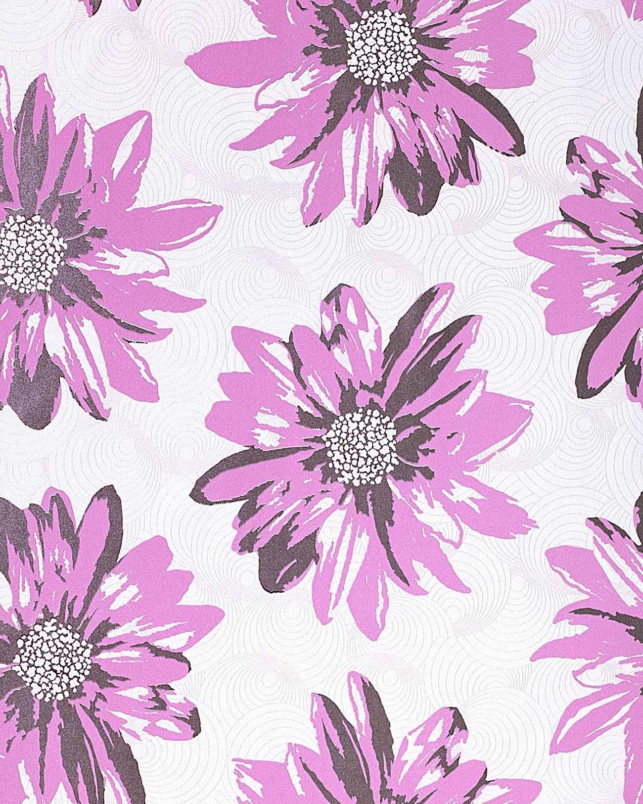 Lila Tapete Weiss Streichen : Summer Design Floral Tapete Sommer Blumen creme-wei? flieder lila