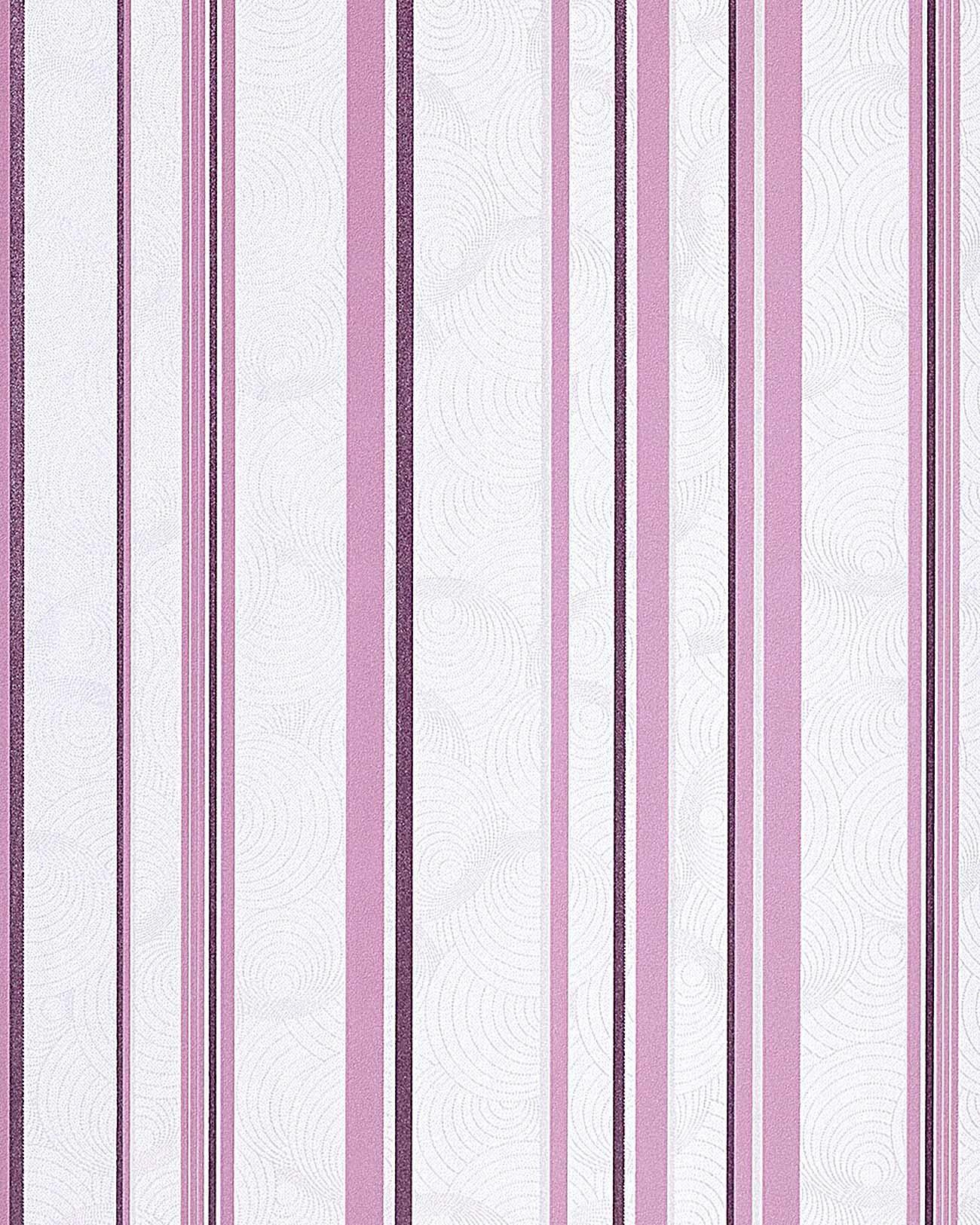 Kinderzimmer Tapeten Flieder : Cream and White Stripes On Wall