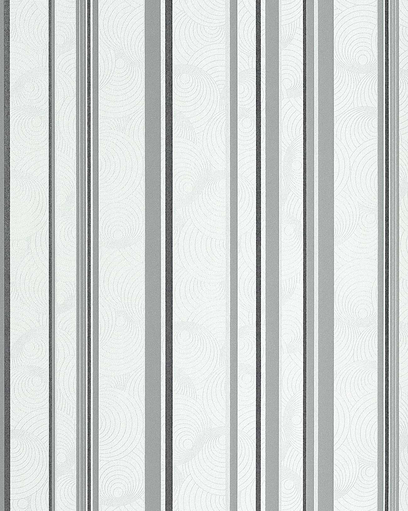 Tapete Blau Wei? Kariert : Sweet Summer Design Streifen Tapete wei? hellgrau graphite ? Bild 1