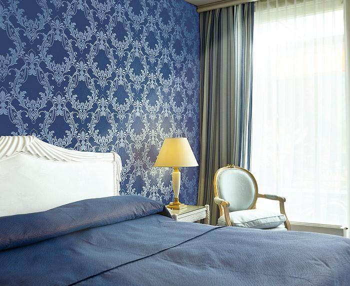 tapetenmuster wohnzimmer: wandgestaltung mit tapeten ige und ... - Barock Tapete Wohnzimmer Weis