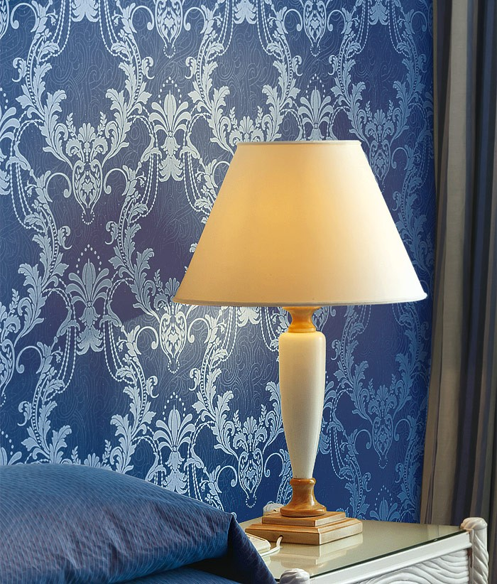 Edem 697 95 imperial barock vliestapete damask ornament for Tapete ornament blau