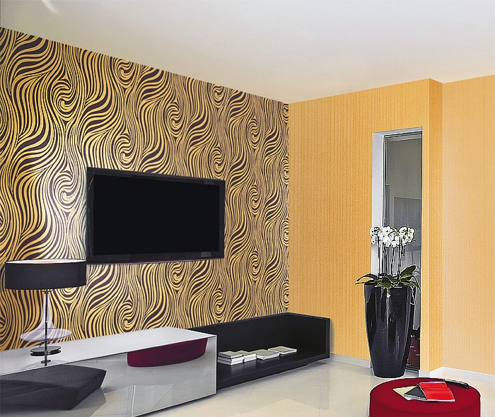 Tapete Violett Gestreift : Gold Zebra Stripe Wallpaper