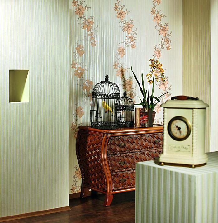 Tapeten Gestreift Pastell : Gestreifte Struktur Creme Wei? Pastell Gr?n Safran Gelb Orange 5