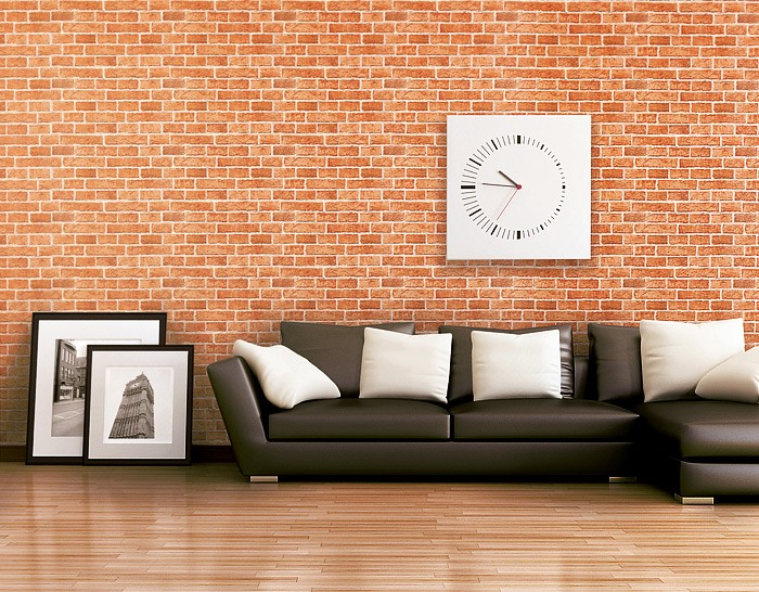 Tapeten Vintage Shabby Chic : Rustic Stone and Brick Wall