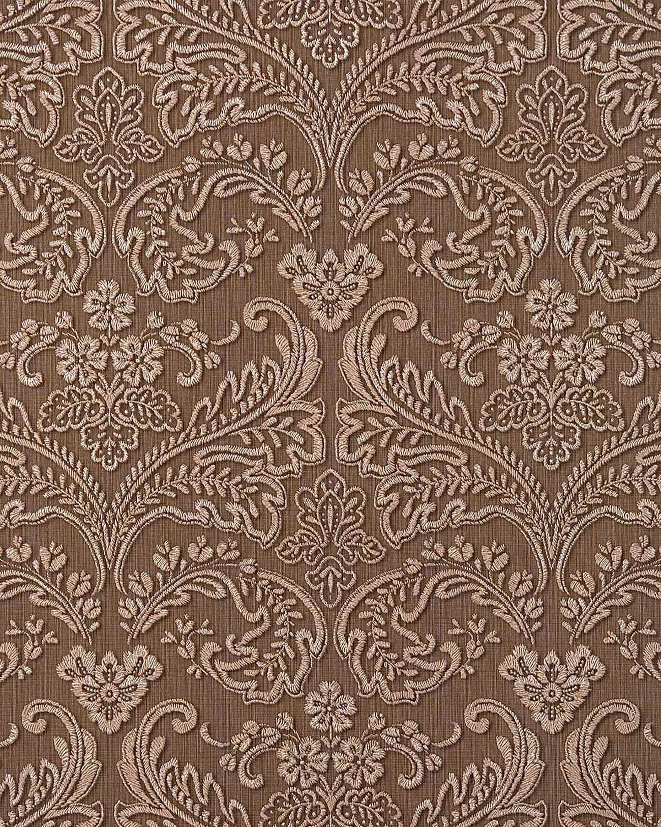 edem 755 25 3d barock pr ge tapete damask braun platin. Black Bedroom Furniture Sets. Home Design Ideas