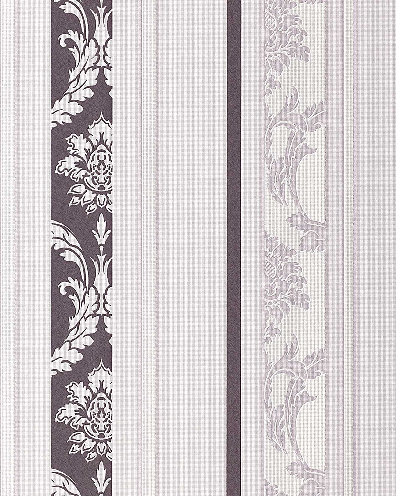 Lila Tapete Weiss Streichen : Lilac and Gray Striped Wall