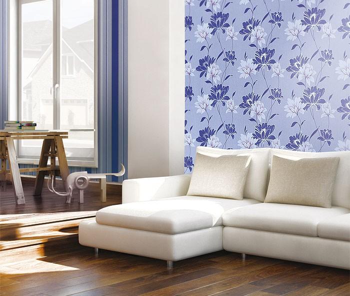 Edem 168 34 tapete floral designer blumen original edem for Tapete lila silber