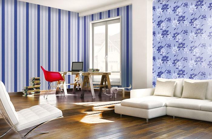 Muster Tapete Lila Schwarz : White Vinyl Flower Wallpaper