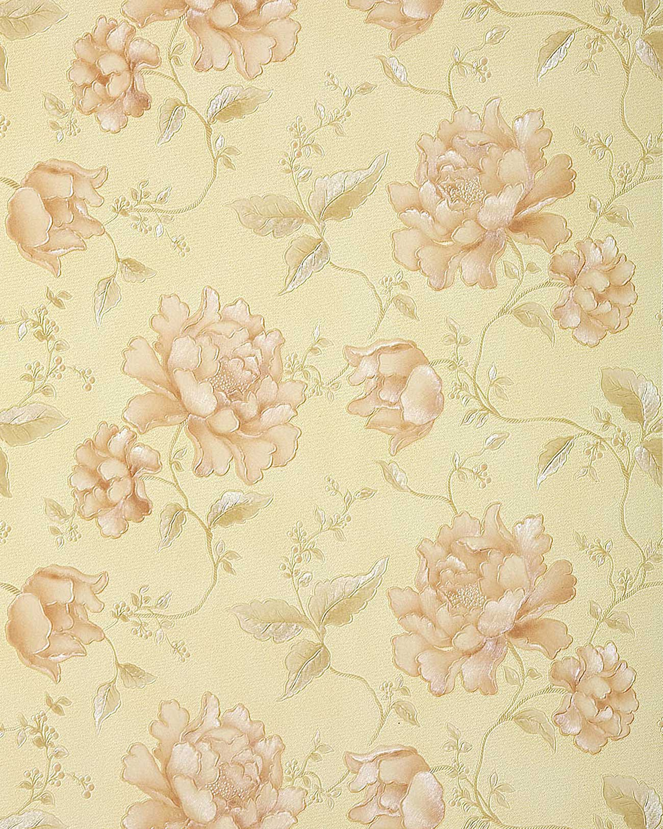 Edem 748 31 3d luxus floral tapete beige elfenbein platin for Tapete floral
