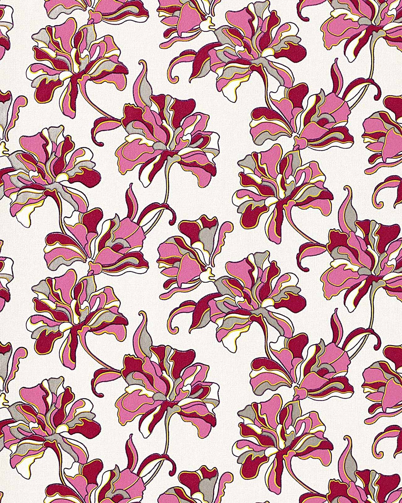 Edem 072 24 tapete floral designer blumen original edem for Rollo papel decorativo