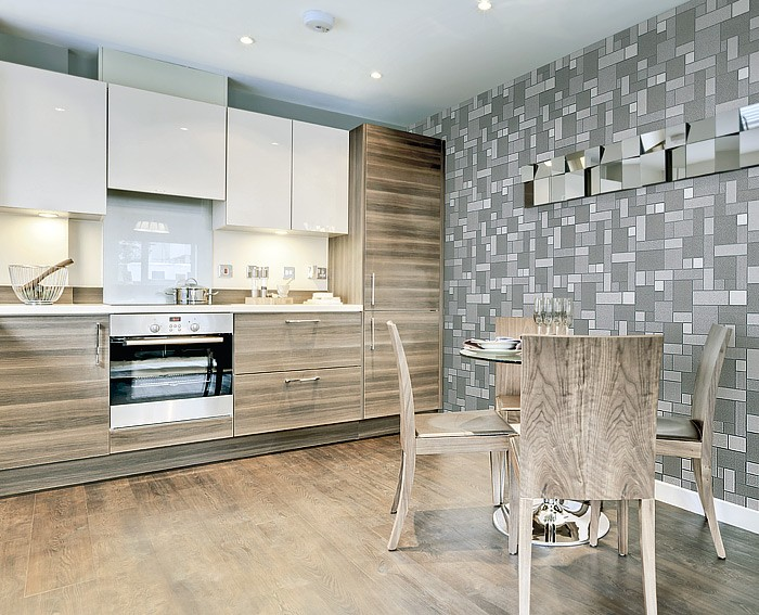 kchentapete kaffee tapeten fuer kueche badezimmer u. Black Bedroom Furniture Sets. Home Design Ideas