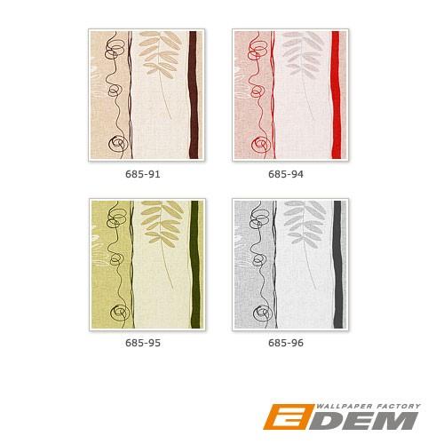 Xxl papier peint intiss motif floral ray edem 685 96 - Papier peint raye gris blanc ...