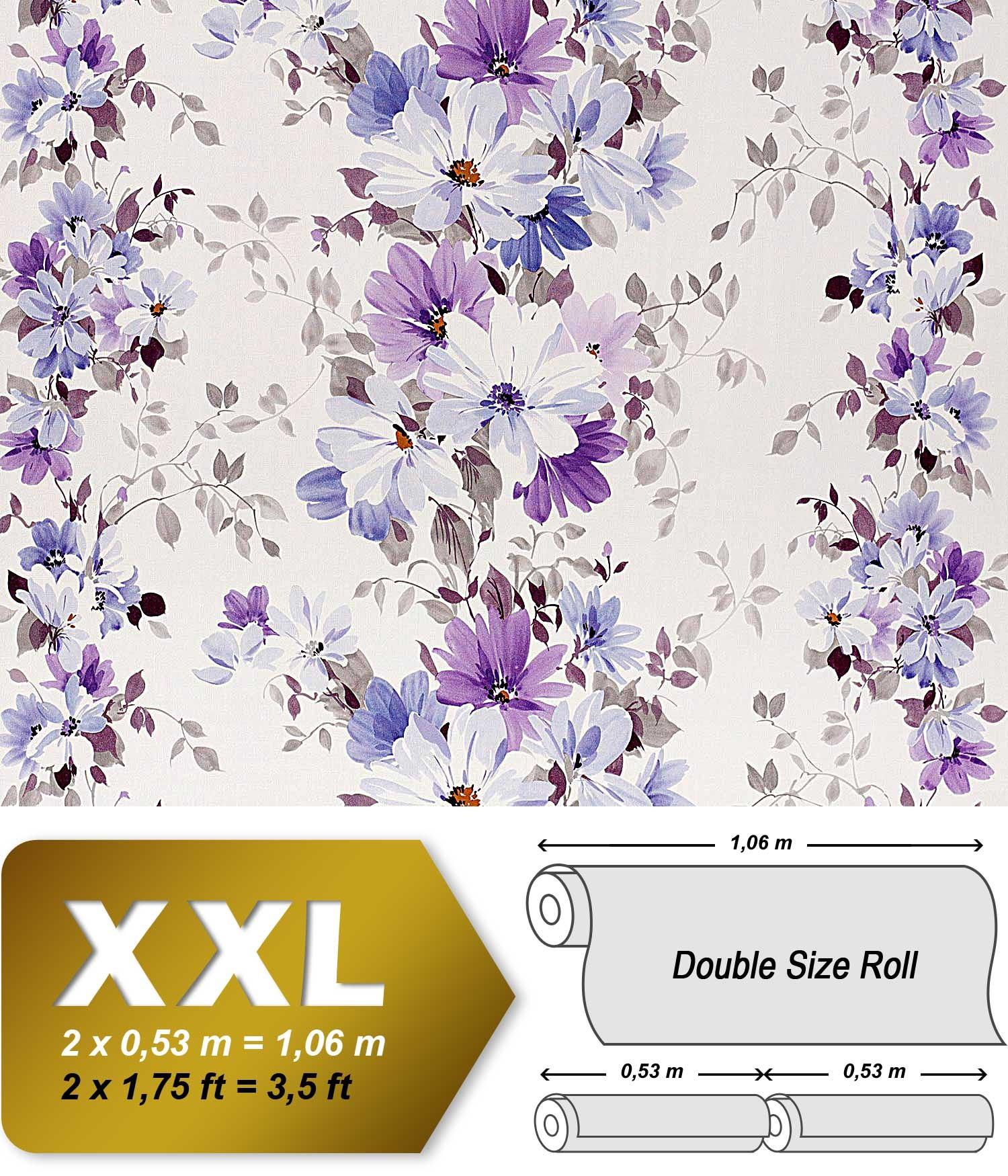 Hochwertige Designer Tapeten : Vliestapete EDEM 907-09 Tapete XXL Floral Designer Blumen hochwertige