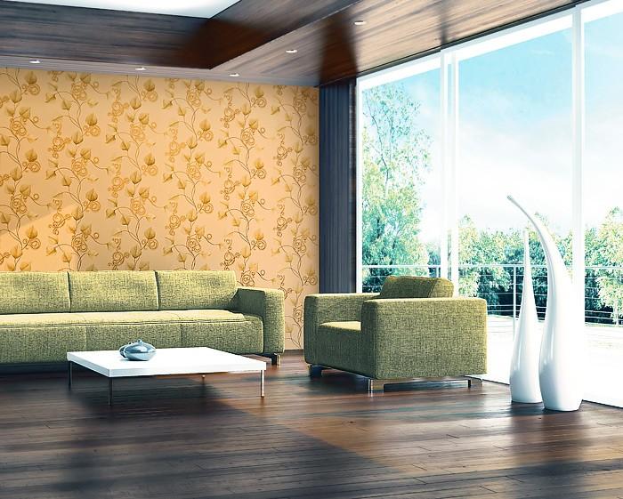 Wohnzimmer Wandfarbe Apricot : Wohnzimmer Hochglanz Weiss Vliestapete  Apricot Kreative