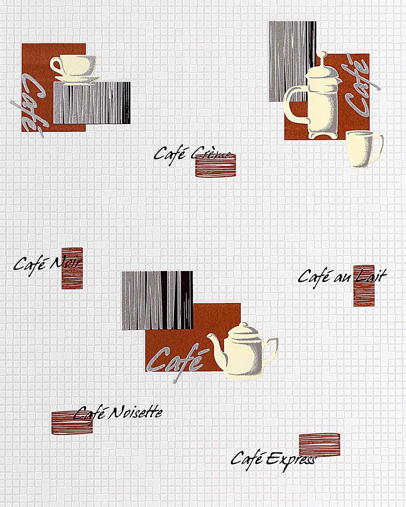 Tapeten Asiatische Motive : Red White Coffee Designs