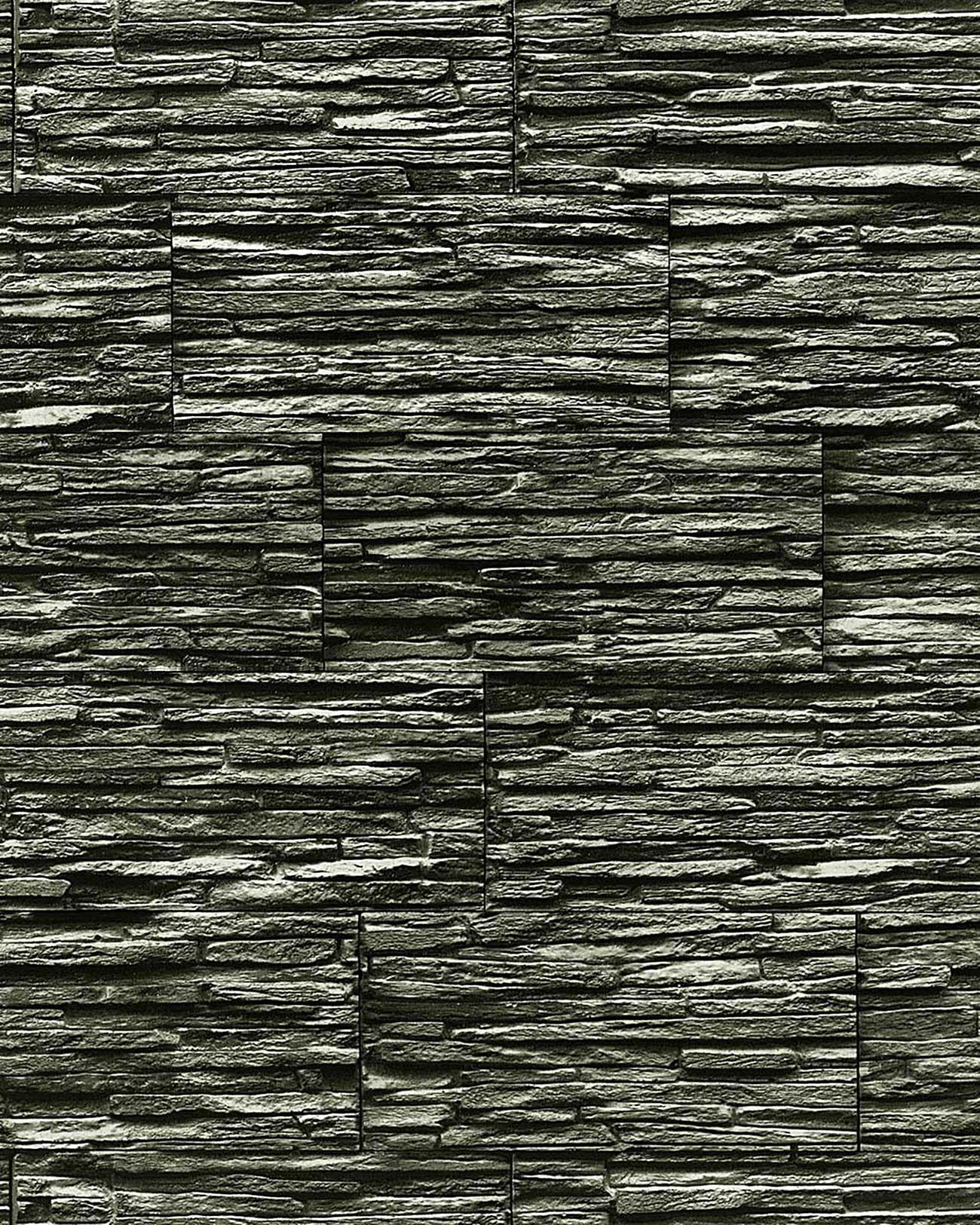 Wall Vinyl Textured Stone Wallpaper