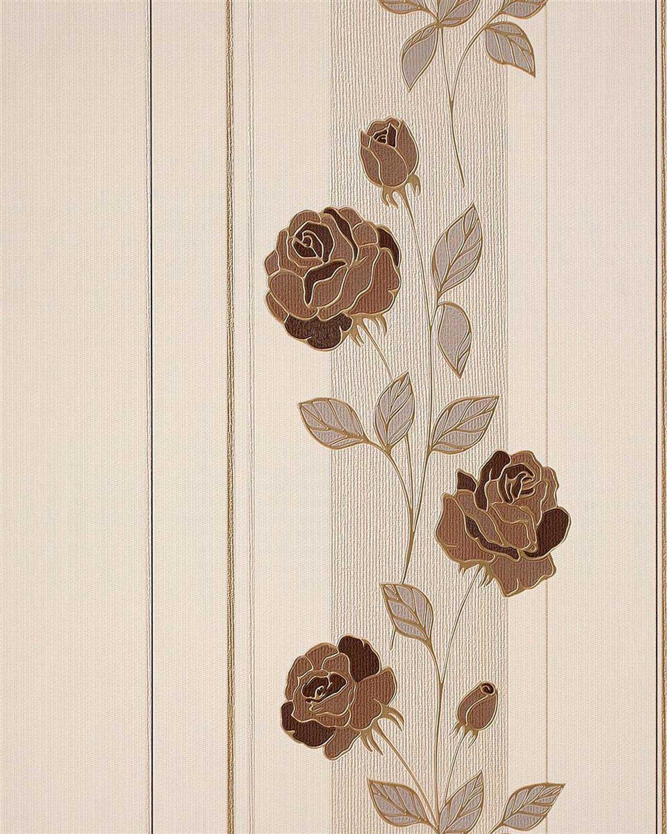 edem 766 36 deluxe floral blumen streifen tapete original. Black Bedroom Furniture Sets. Home Design Ideas