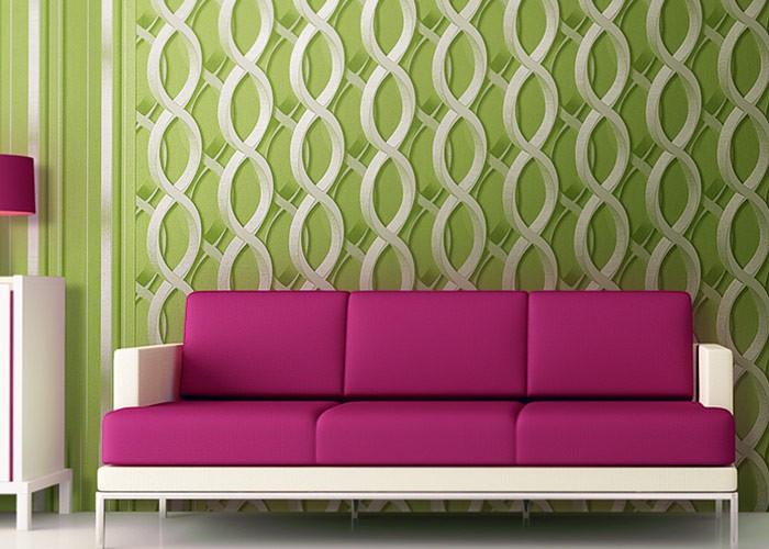 Tapeten : EDEM 601-95 Designer Vliestapete 3D Ketten-Muster grün ...