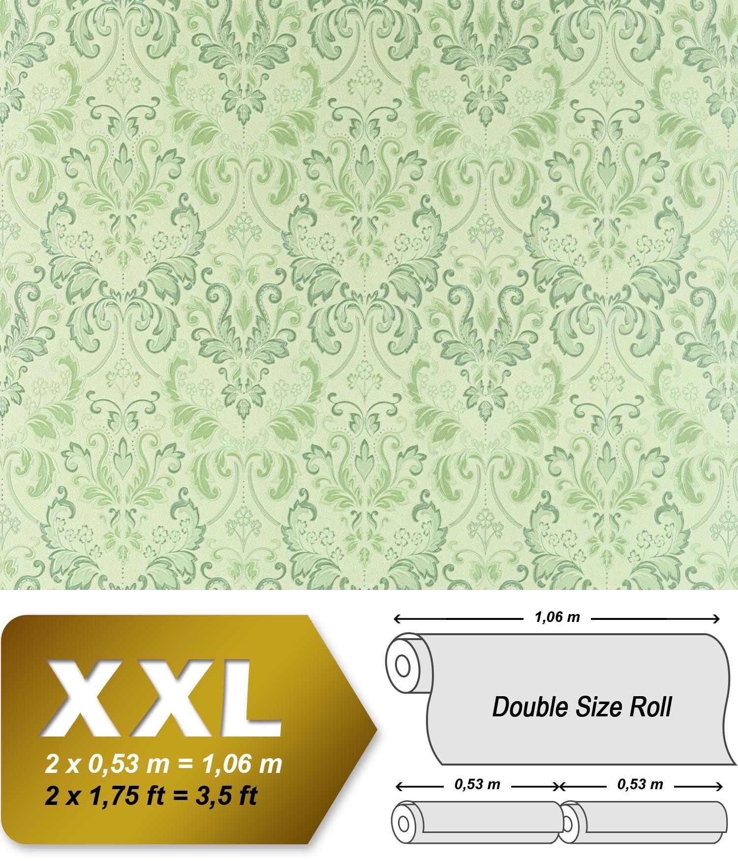 Barock Tapete Dunkelgr?n : White Non Woven Fabric