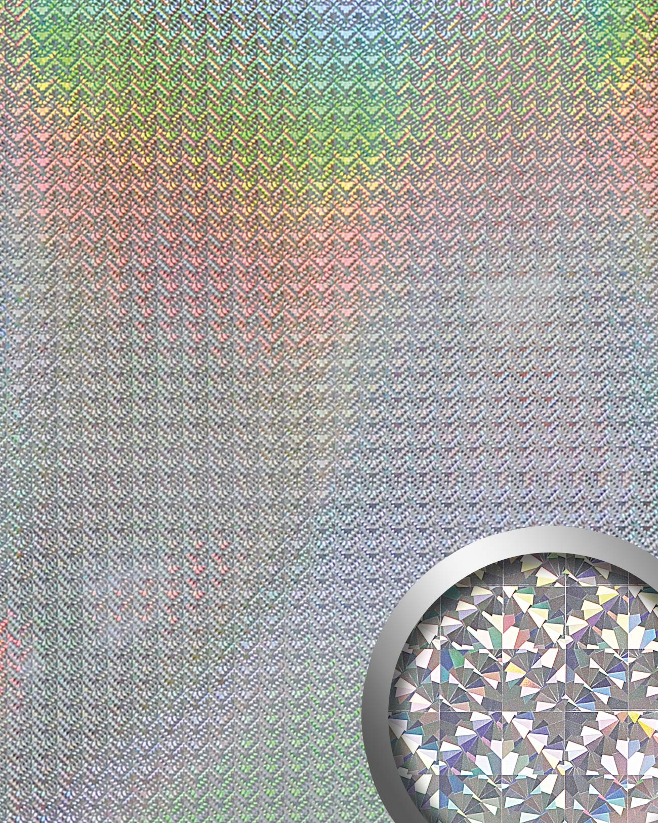 wallface 10175 deco galaxy wandpaneel metall dekor mosaik. Black Bedroom Furniture Sets. Home Design Ideas