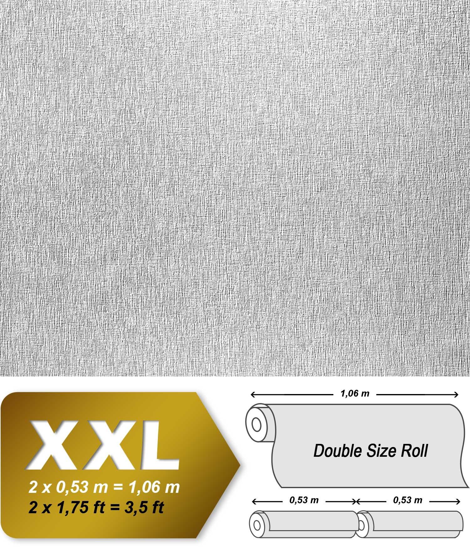 Papier peint blanc non-tissé à peindre texture fine rayure EDEM 374 ...