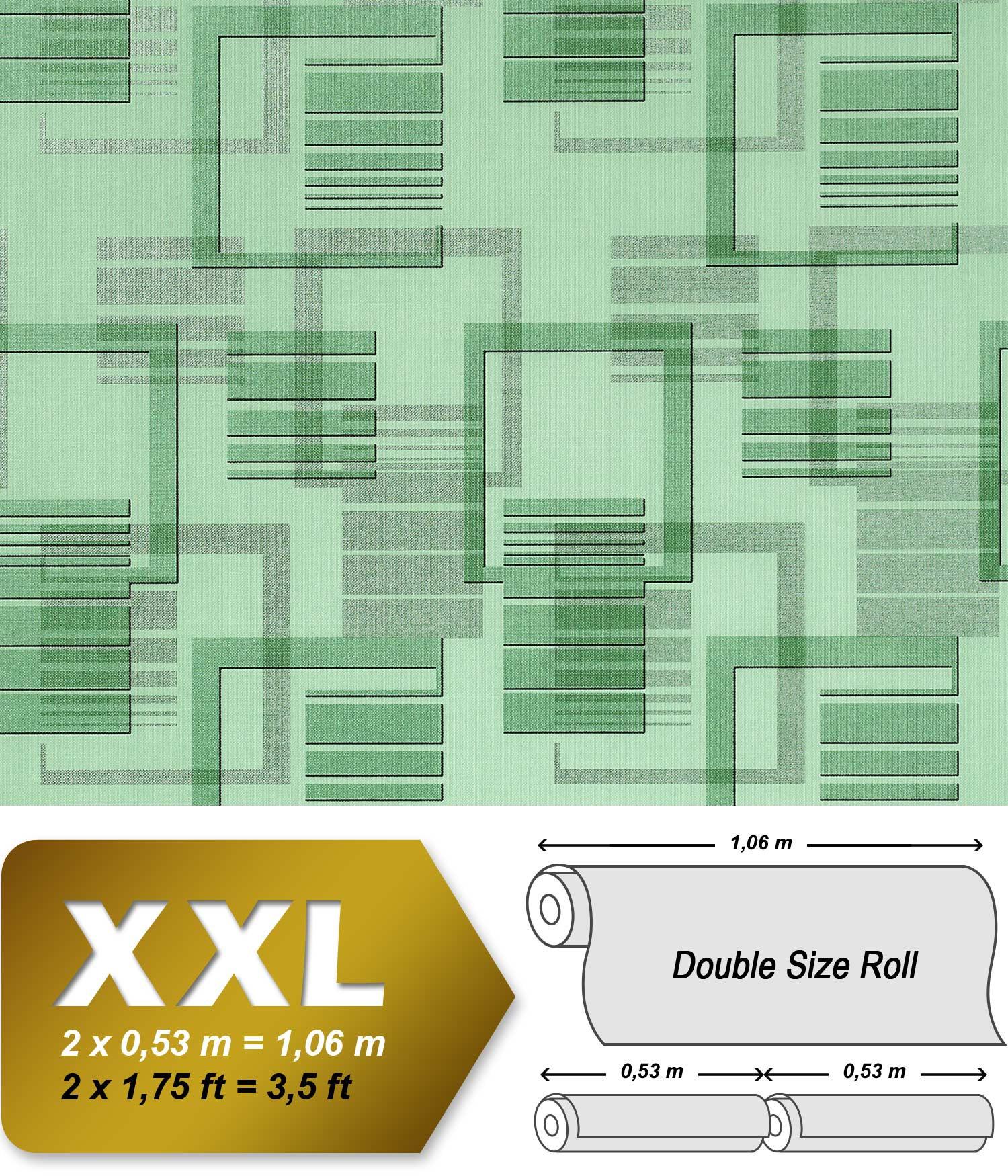 Retro behang jaren 70 interieur edem 609 95 vliesbehang xxl designbehang abstract motief groen - Behang van de jaren ...