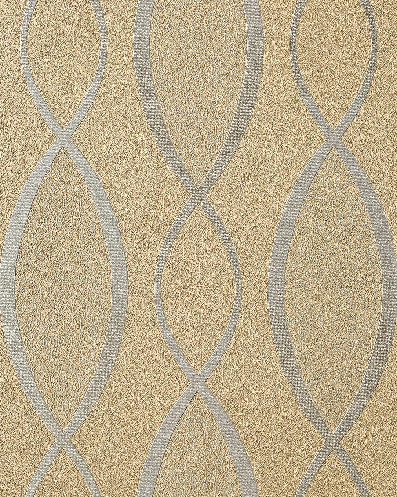edem 1018 13 tapete geschwungene designer linien 70er retro style 5 33 qm original edem braun. Black Bedroom Furniture Sets. Home Design Ideas