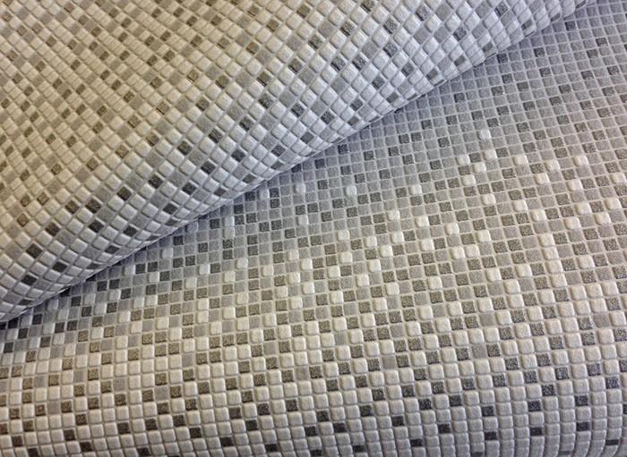 Behang design tegel moza ek met strepen edem 1023 16 behangpapier vinyl keuken en badkamer wit - Wit behang en grijs ...
