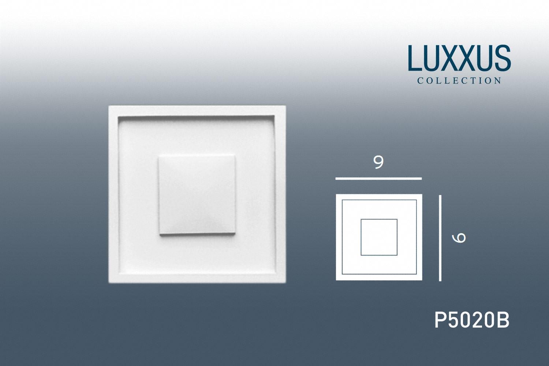 stuck quadrat zierelement orac decor p5020b luxxus. Black Bedroom Furniture Sets. Home Design Ideas