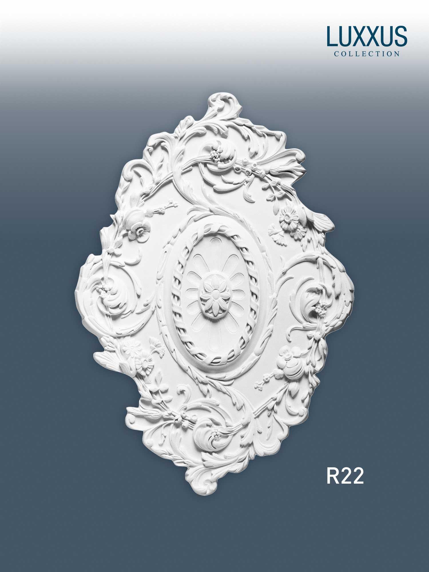 deckenrosette medallion orac decor r22 luxxus ovale decken. Black Bedroom Furniture Sets. Home Design Ideas