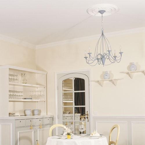 deckenrosette medallion orac decor r46 luxxus stuckrosette bl tter ornament 53cm original orac. Black Bedroom Furniture Sets. Home Design Ideas