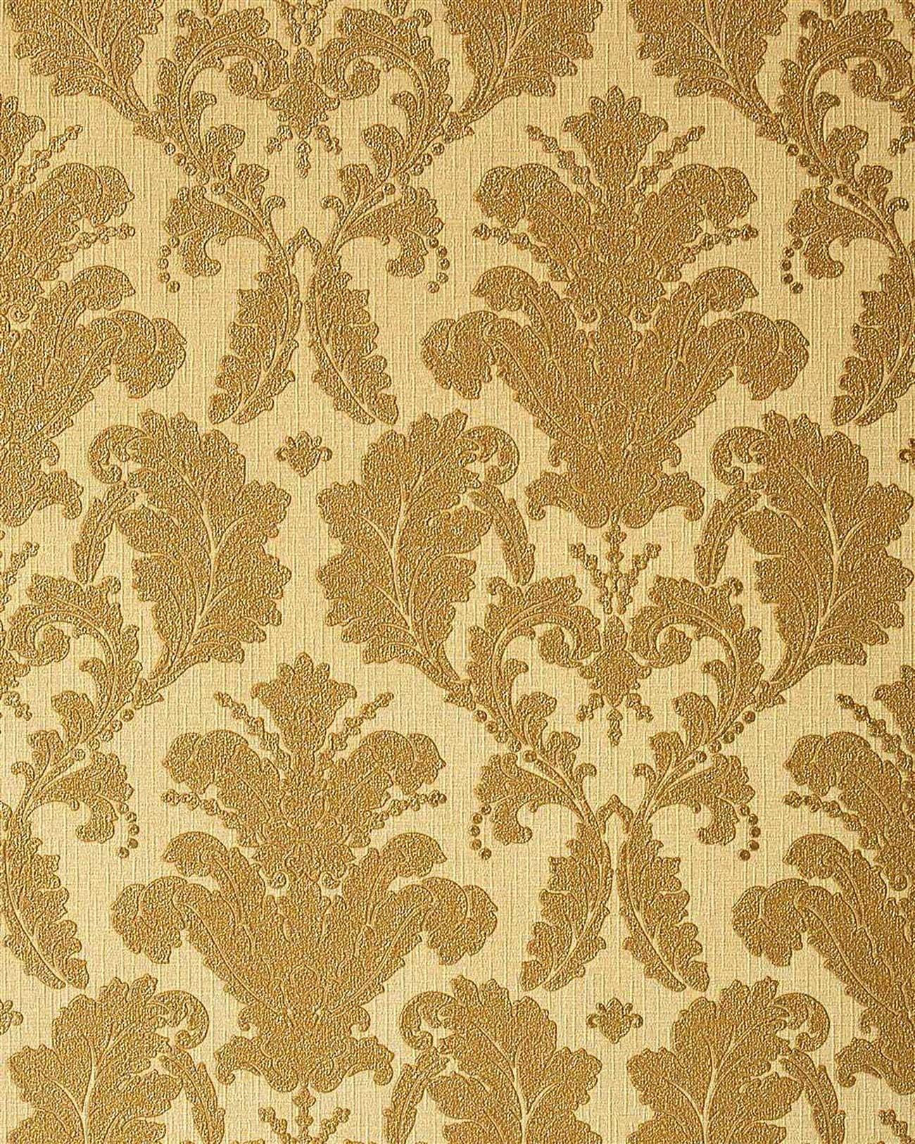 Barock Tapeten Retro Design Tapete : Beige and Gold Wallpaper