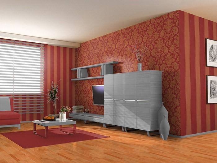 Tapeten Wohnzimmer Rot ~ Inspirierende Bilder von Wohnzimmer ...