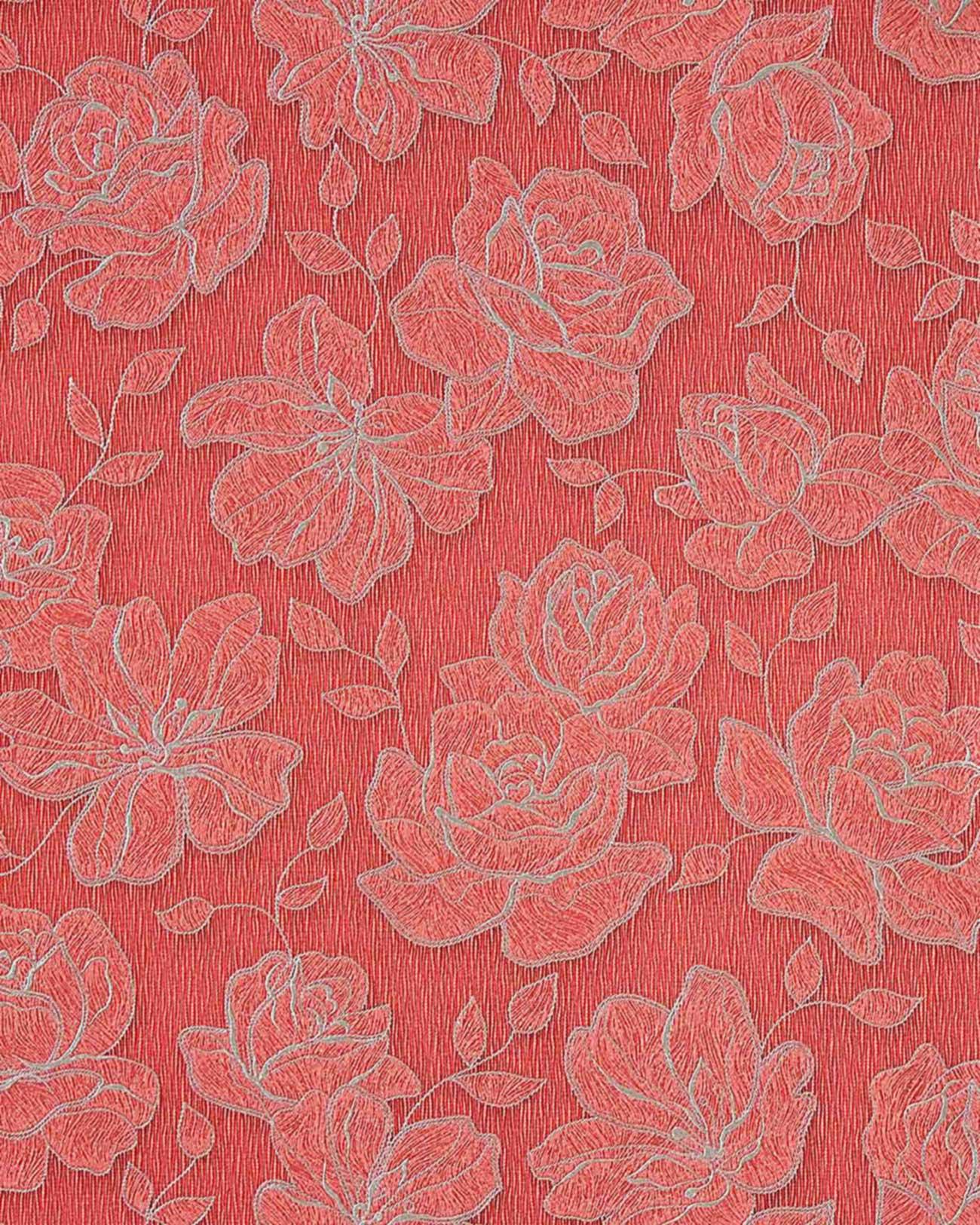 Asiatische Blumen Tapete : Brown and Silver Floral Design