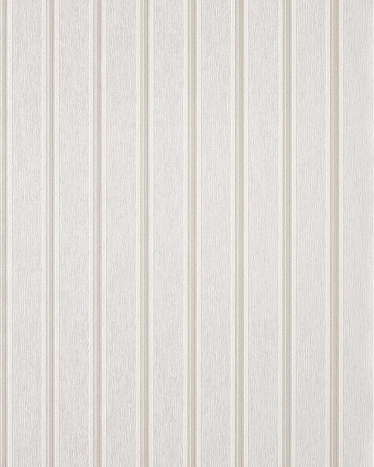 Edem 112 30 stilvolle design streifen tapete wei creme for Design tapete grau