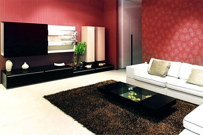 tapete wohnzimmer hell:Streifen Tapete EDEM 174-36 Design Tapete Vinyltapete hell kakao-braun
